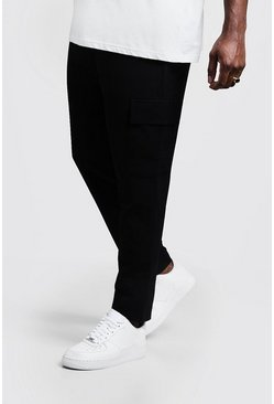 Mens Black Big & Tall Utility Pocket Smart Jogger