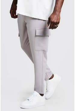 Mens Stone Big & Tall Utility Pocket Smart Jogger Trouser