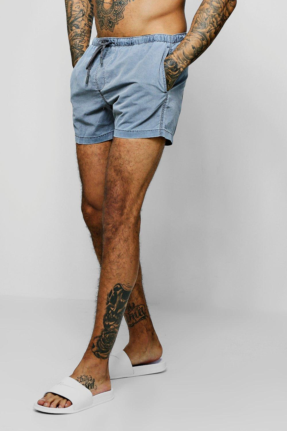 Pigment Dyed Mid Length Swim Short