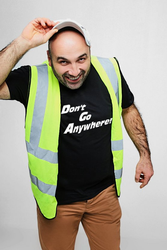 "T-shirt Ferdi ""DON'T GO ANYWHERE"", Nero, Uomo"