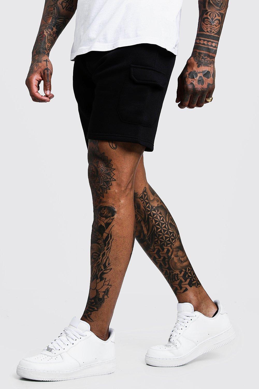 Mid Length Cargo Jersey Shorts