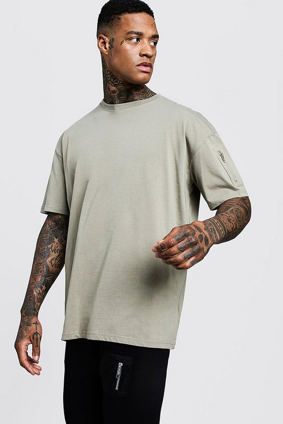 Oversized T-Shirt With MA1 Pocket