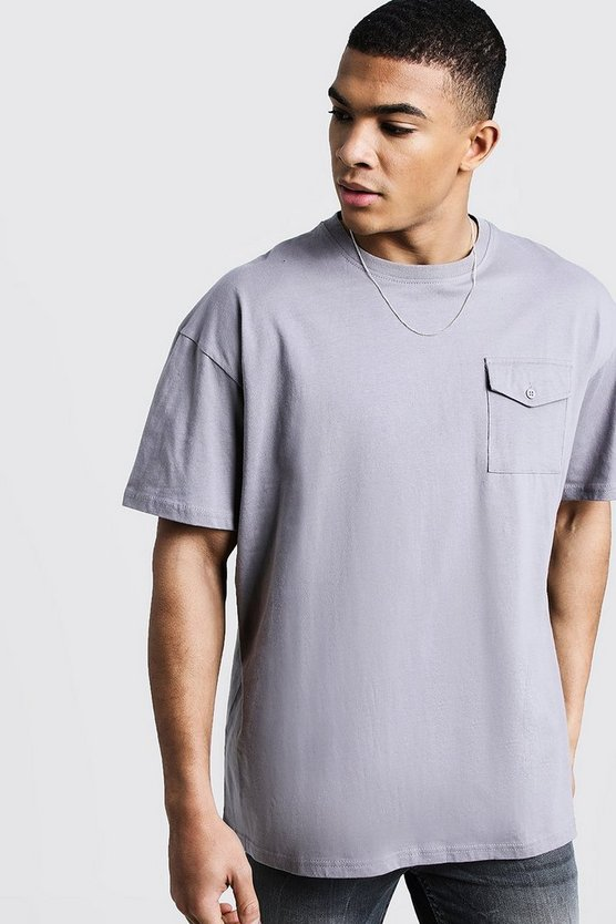 Oversized T-Shirt With Utility Pocket