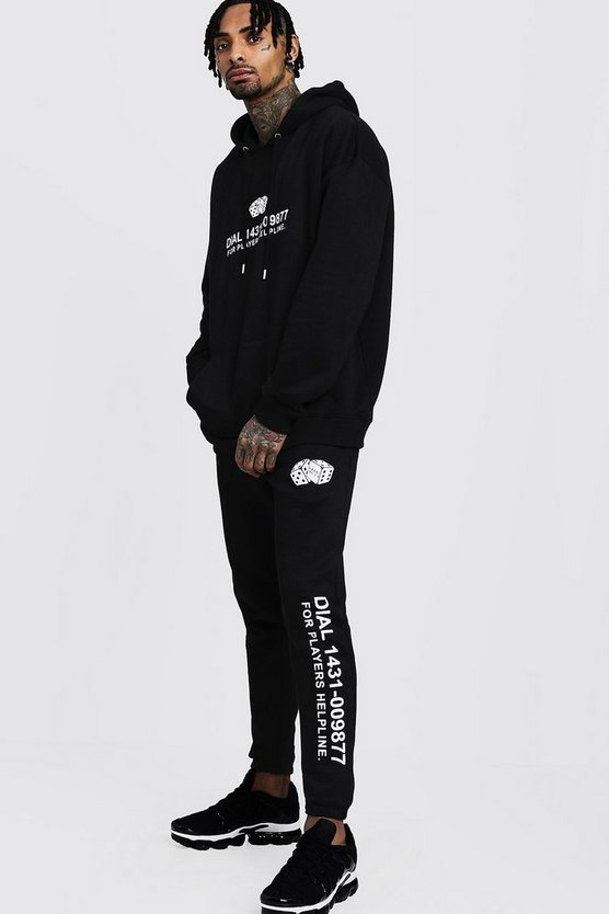 Dice Casino Print Hooded Tracksuit