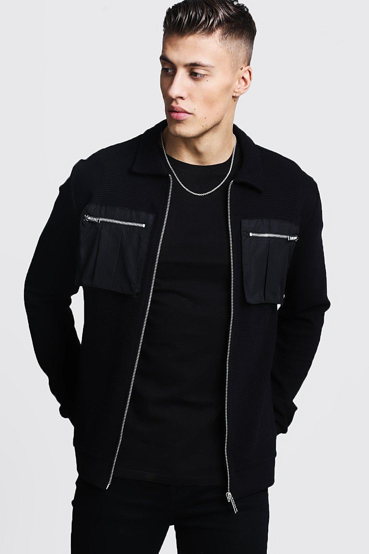 Rib Utility Detail Harrington Jacket