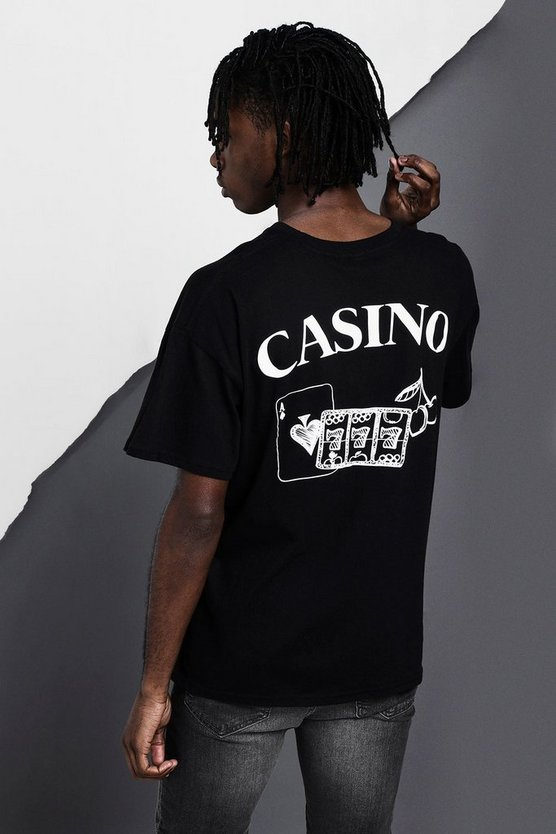 Oversized Casino Back Print T-Shirt