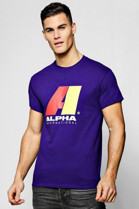 Alpha Neon Printed T-Shirt