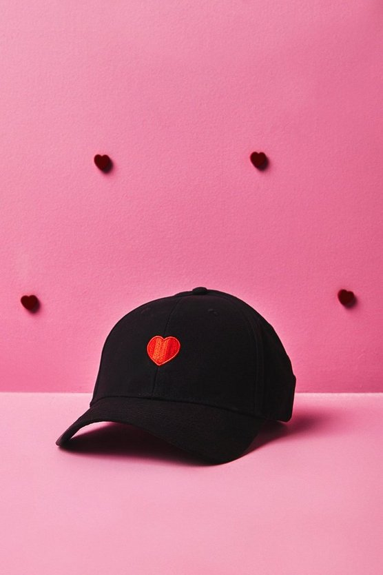 Valentines Heart Embroidered Cap