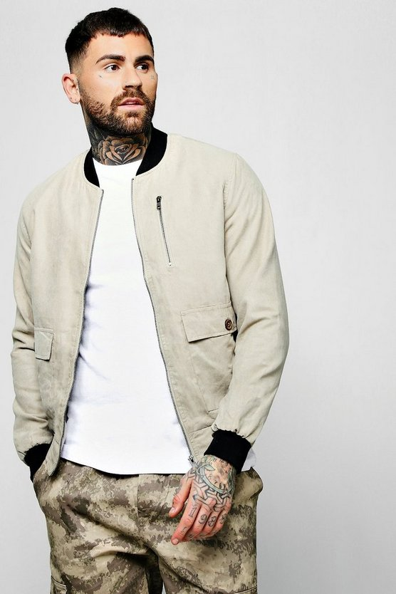 Suedette Utility Bomber