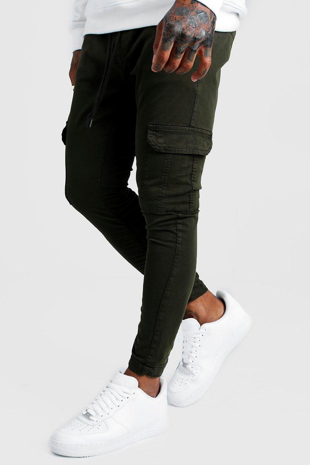 best newest discount shop Pantalon cargo Skinny | Boohoo