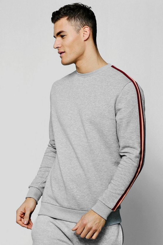 Mens Side Tape Detail Sweatshirt