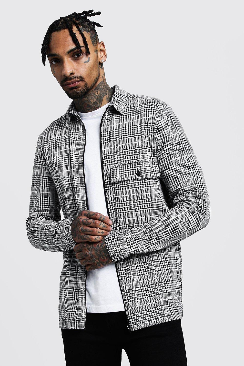 Check Jacquard Utility Coach Jacket
