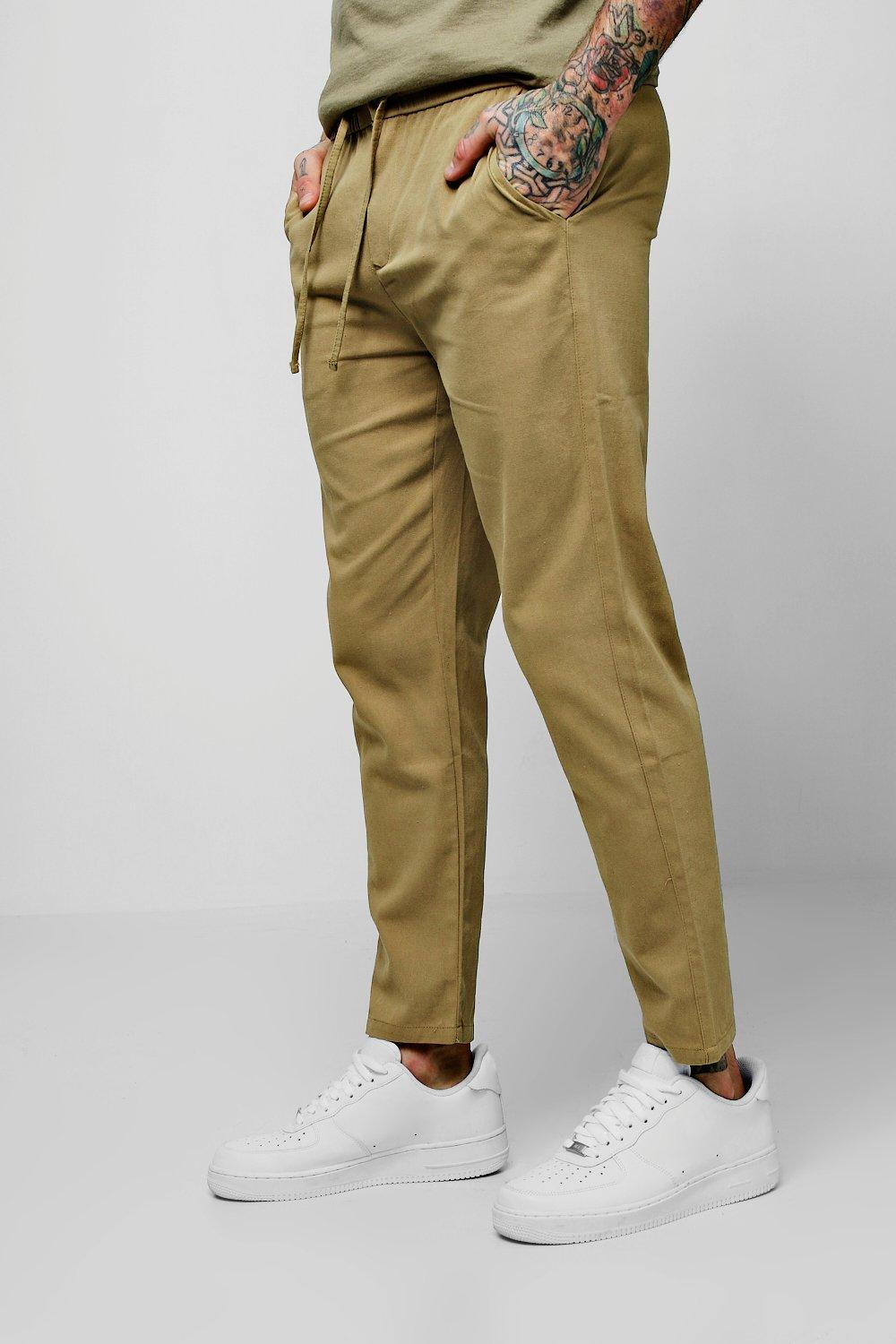Drawcord Waist Slim Fit Chino Trouser