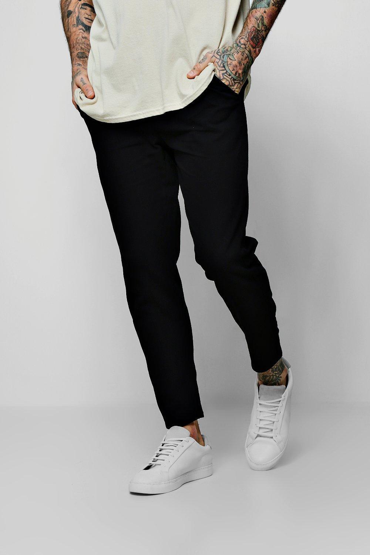 Drawcord Waist Slim Fit Chino Trousers