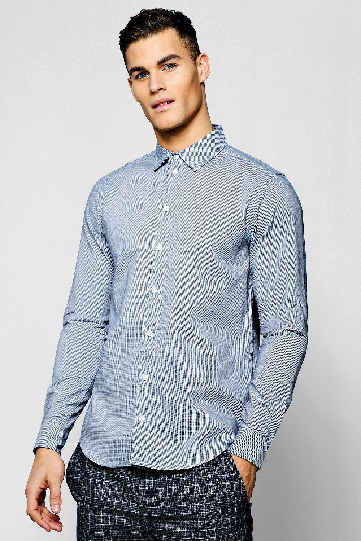 Mini Houndstooth Long Sleeve Smart Shirt