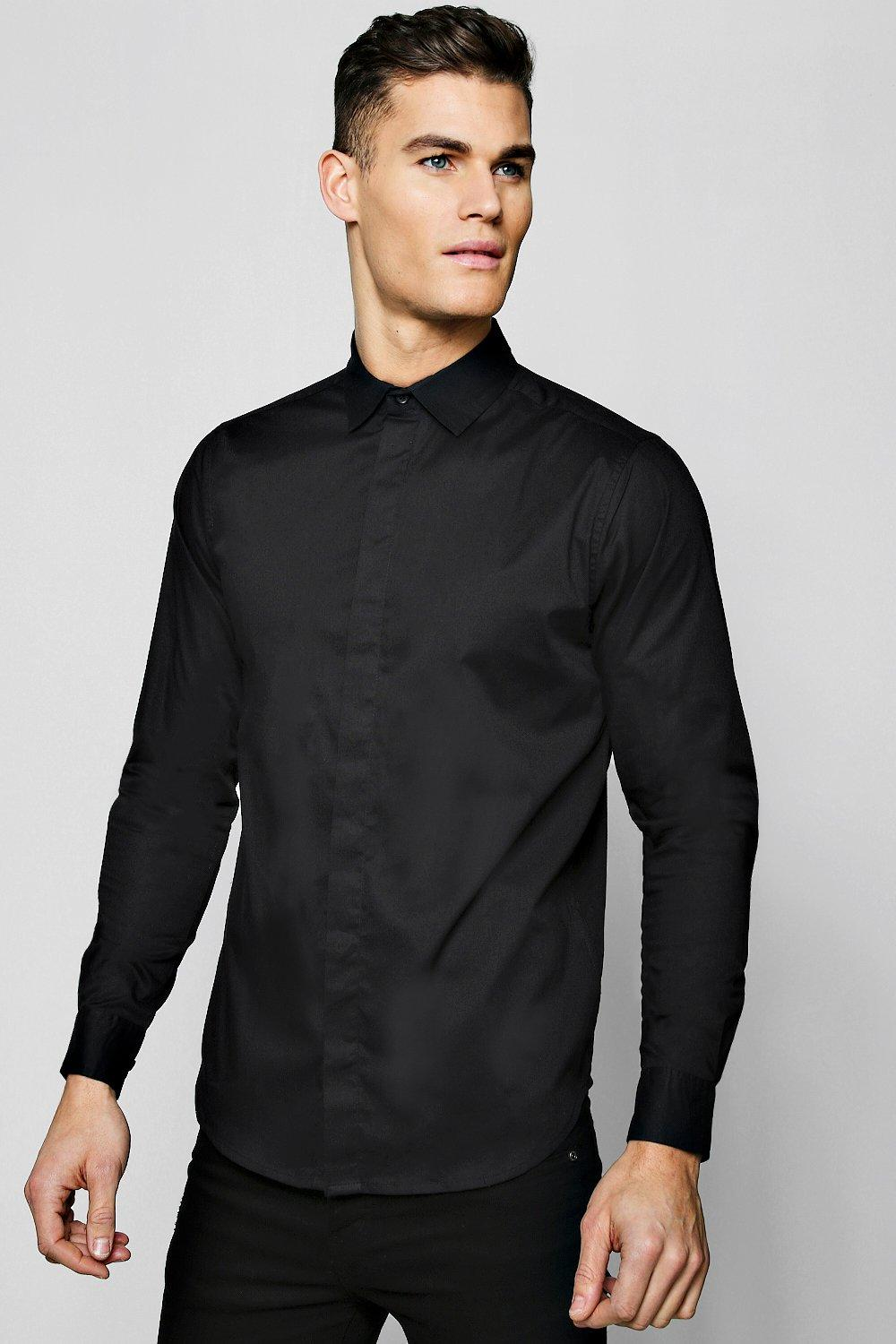 MAN Gold Embroidered Muscle Fit Shirt
