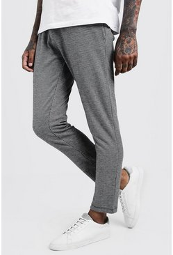 Mens Grey Dogtooth Jacquard Smart Jogger