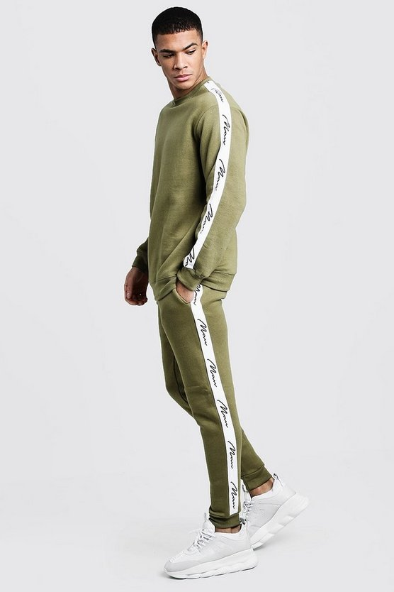 MAN Signature Tape Sweater Tracksuit