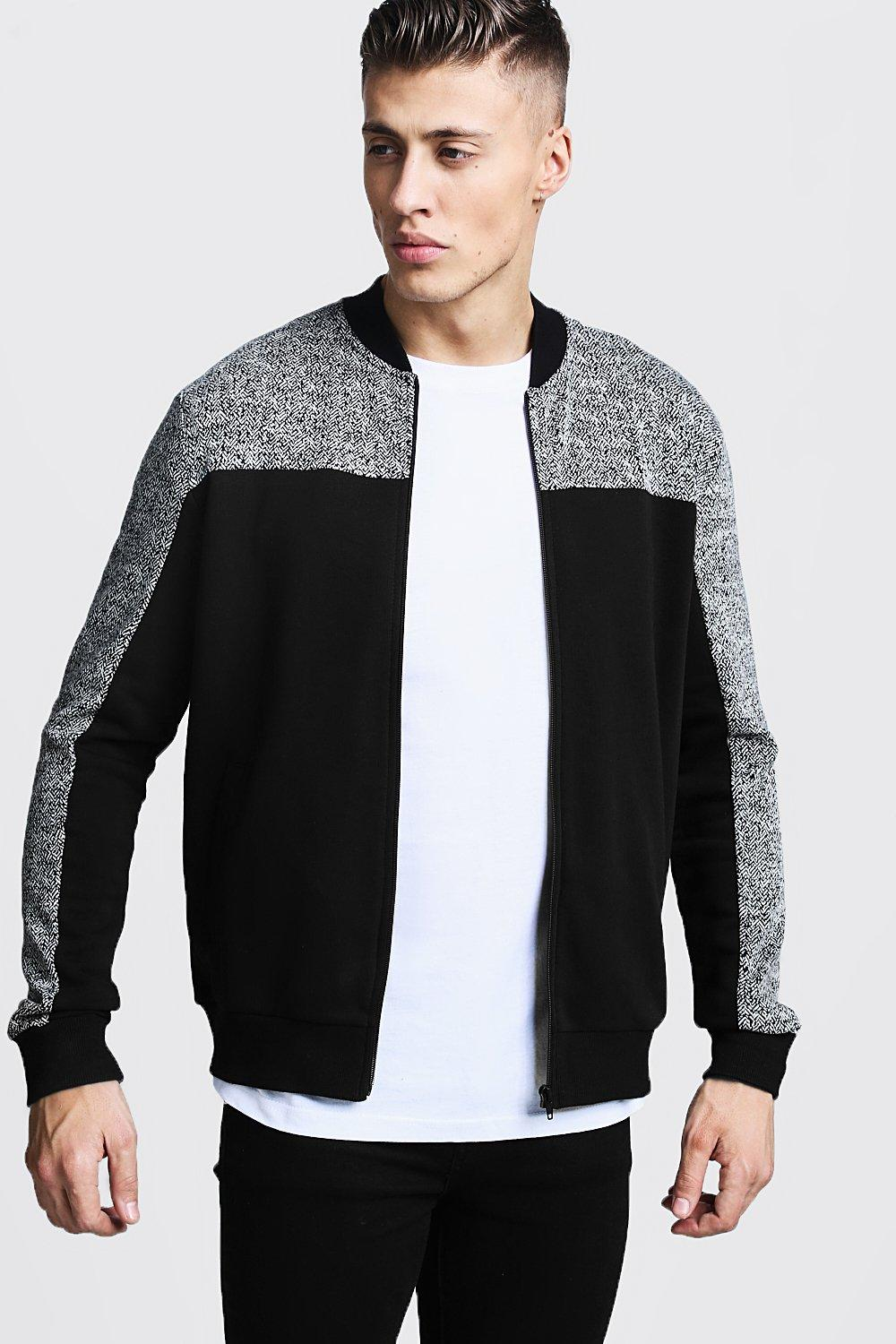 Panelled Smart Bomber Jacket