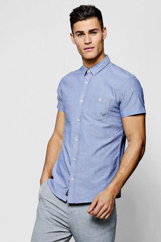 Short Sleeve Cotton Oxford Shirt