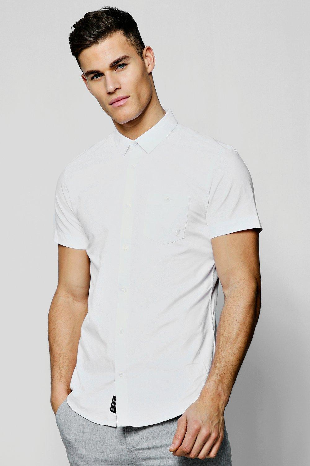 Short Sleeve Cotton Oxford Shirt