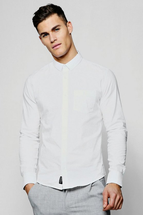 Long Sleeve Cotton Oxford Shirt