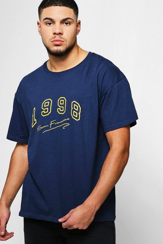 Mens Navy Loose Fit 1998 San Francisco T-Shirt