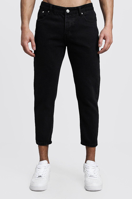 Skinny Fit Cropped Rigid Denim Jeans