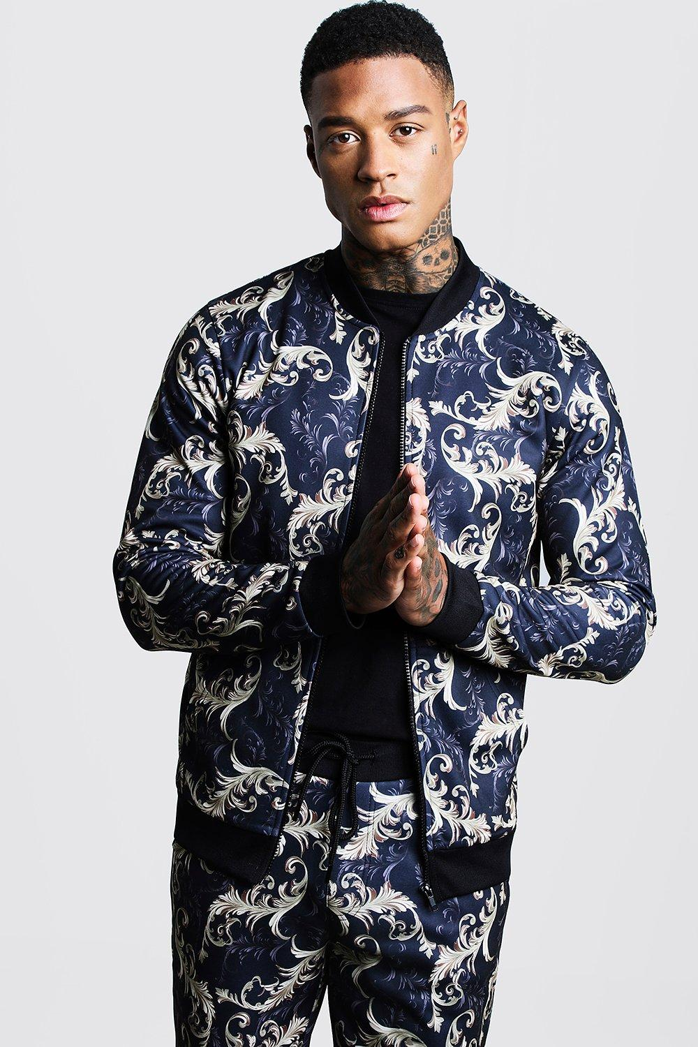 Baroque Printed Bomber