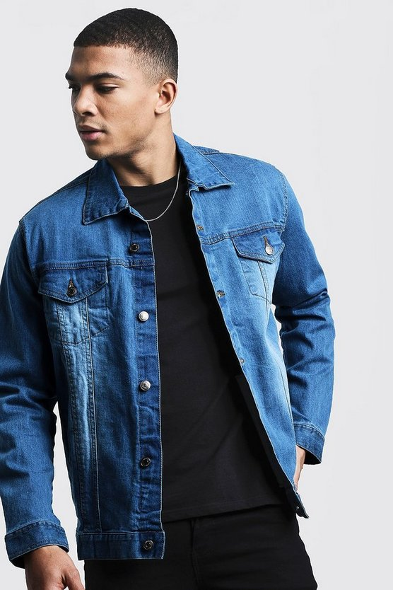 Light blue Regular Fit Denim Jacket