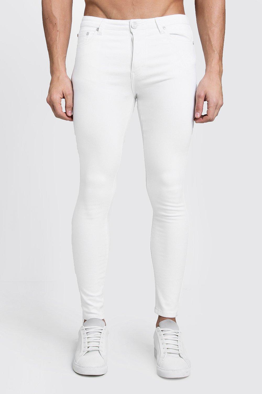 Spray On Skinny White Denim Jeans