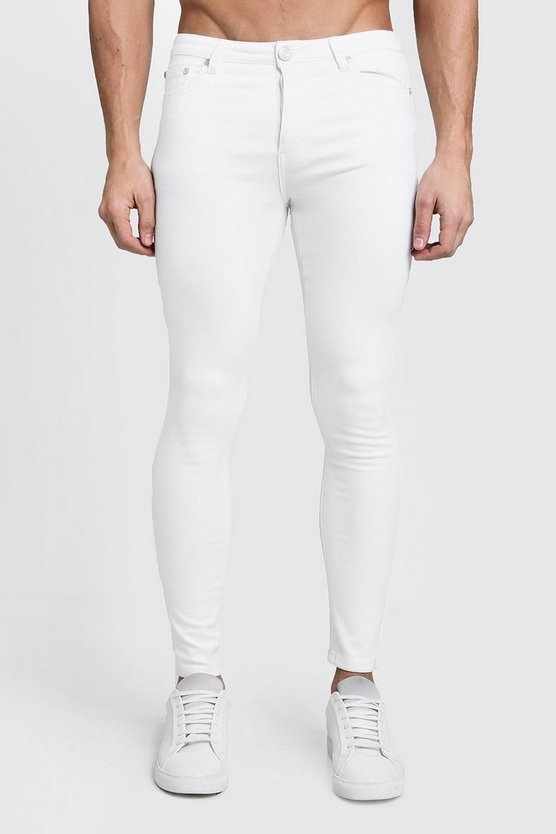 Spray On Skinny White Denim Jeans