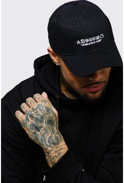 Herr Black MAN Care Label Embroidered Cap