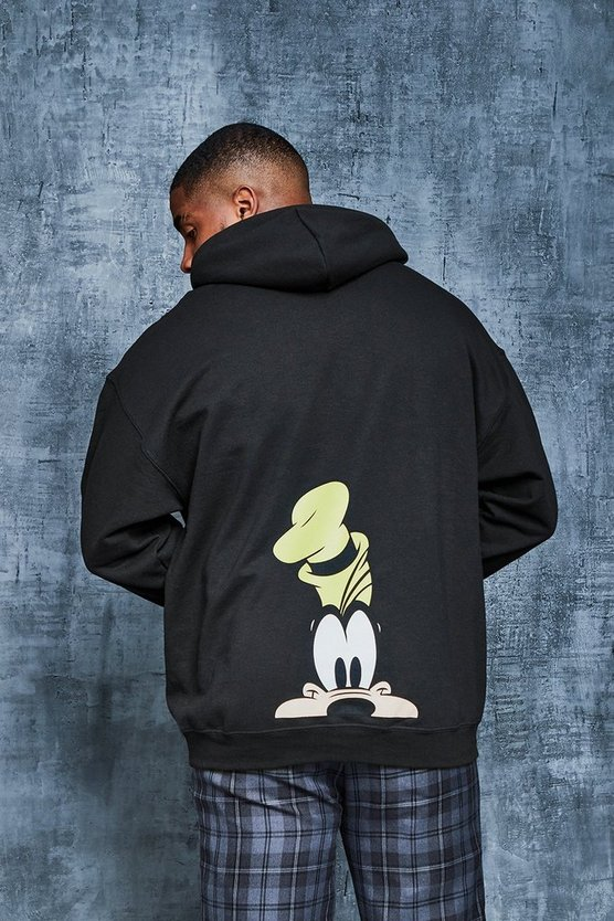 Mens Black Big And Tall Disney Goofy Print Hoodie