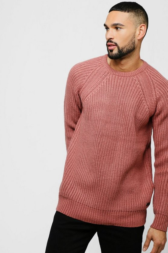 Raglan Sleeve Crew Neck Jumper