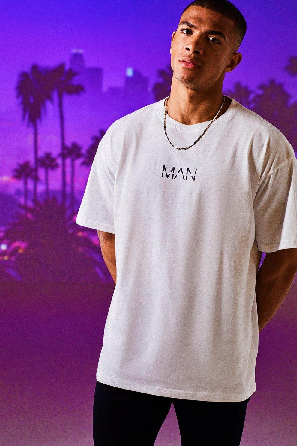 a53696d60 Oversized Original MAN Print T-Shirt | Boohoo