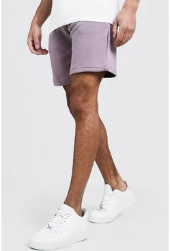 Mens Bark Basic Mid Length Jersey Short
