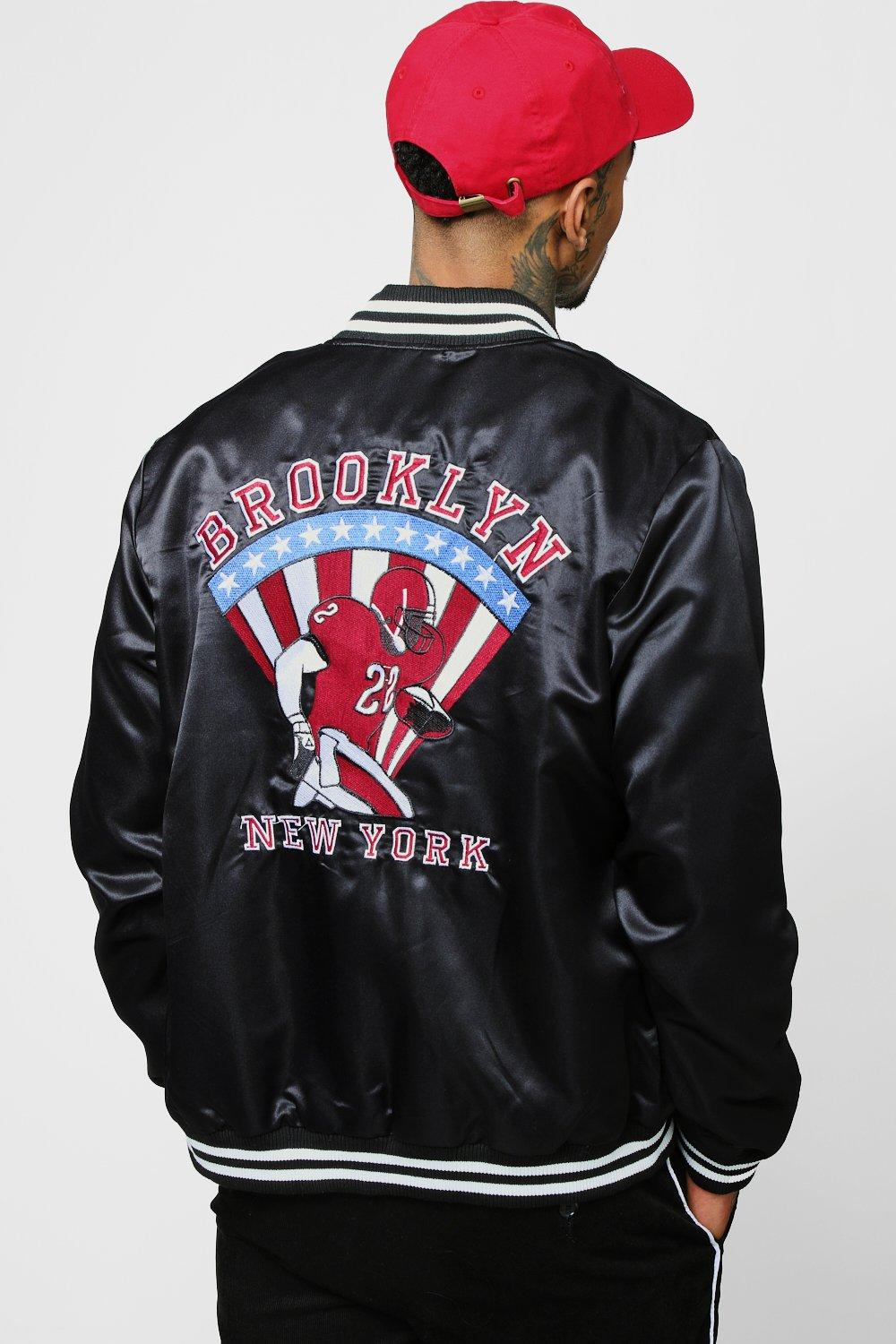 Back Embroidered Varsity Bomber