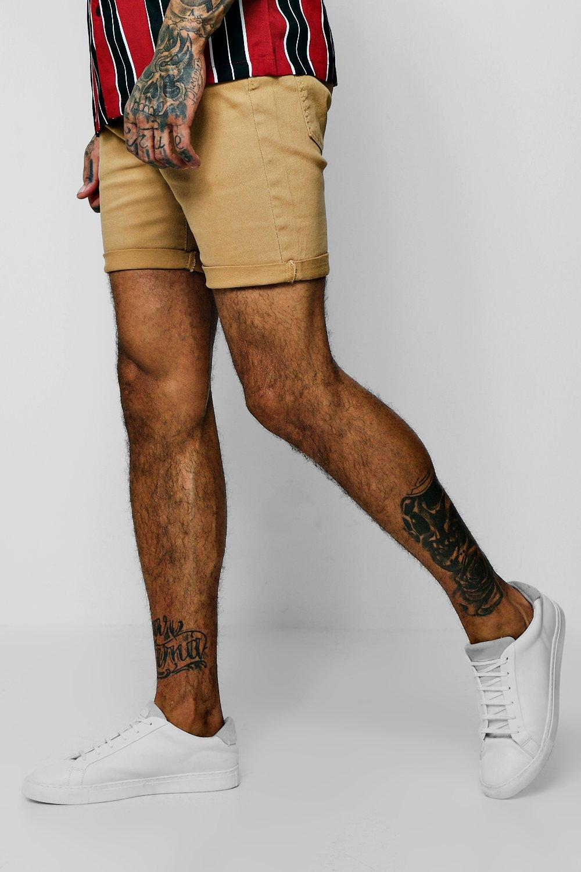 Skinny Fit Honey Denim Shorts