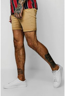 Mens Skinny Fit Honey Denim Shorts