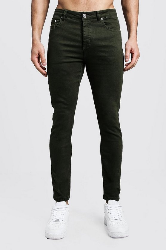 Skinny Fit Khaki Denim Jeans