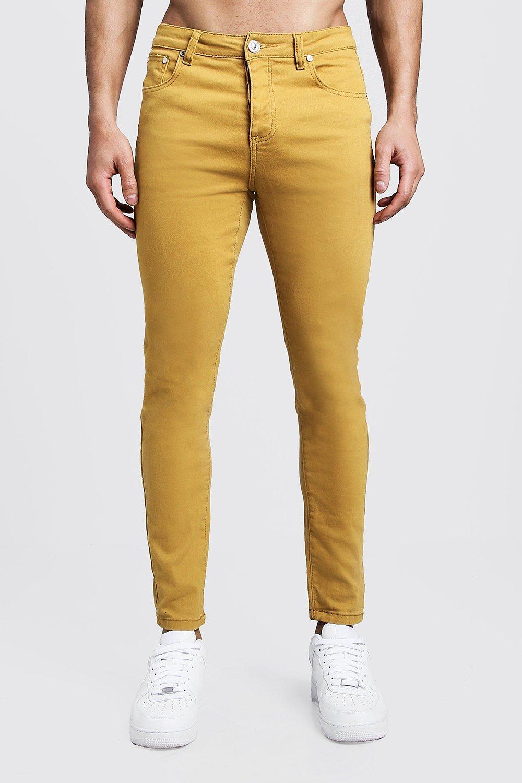 Skinny Fit Mustard  Denim Jeans