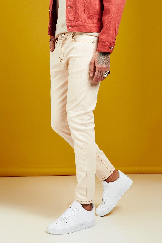 Skinny Fit Ecru Denim Jeans