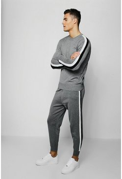 MAN Signature Knitted Tracksuit, Grey, МУЖСКОЕ