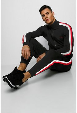 MAN Signature Zip Through Knitted Tracksuit, Black, МУЖСКОЕ