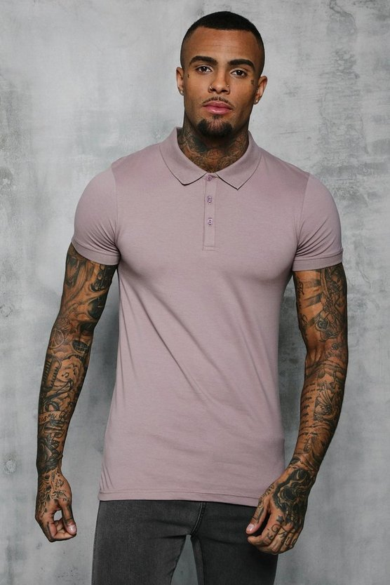 Short Sleeve Muscle Fit Polo