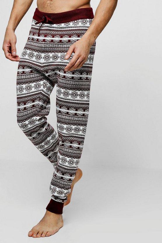 Fairisle Knitted Lounge Pants by Boohoo Man