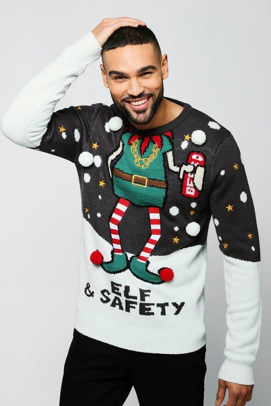 Elf & Safety Christmas Jumper