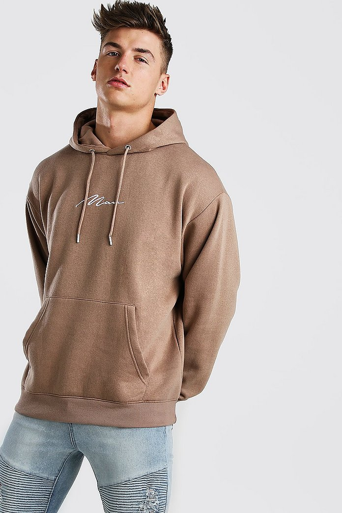 NEW BooHoo MAN Signature Sweat shirt Hood and Short bottom Sports Suit Track set