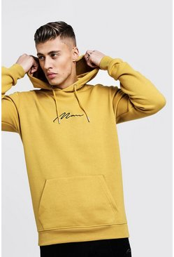 Mens Honey MAN Signature Embroidered Hoodie